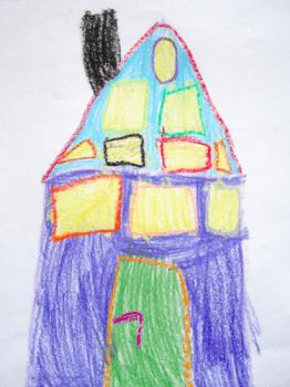 Kinderbild von einem Haus