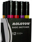 Illustrations- und Layout Marker: Molotow Basic Sketcher Twin-Markers