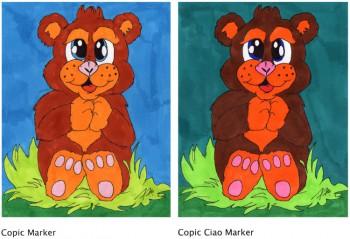 Bärchen mit Copic und Copic Ciao