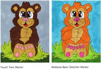 Bärchen mit Molotow Basic Sketcher