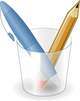 Kugelschreiber und Bleistift