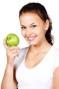 Frau mit Apfel Original