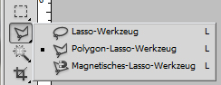 Das Polygon-Lasso-Werkzeug in Adobe Photoshop