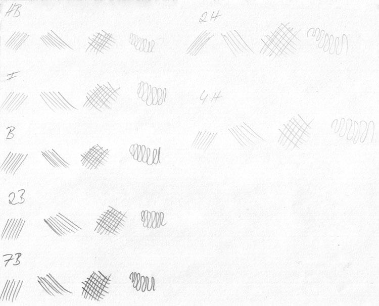 Bleistiftschraffuren