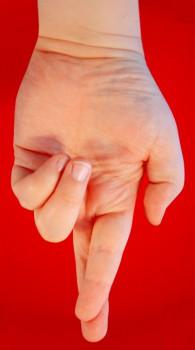 Gekreuzte Finger