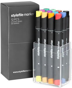 Stylefile Marker 12er Set Main A