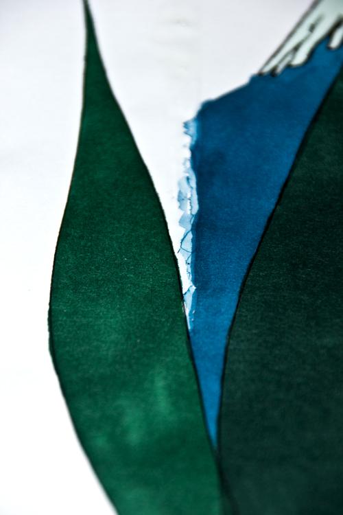 Auf Rubbelkrepp malen - Beispiel 3