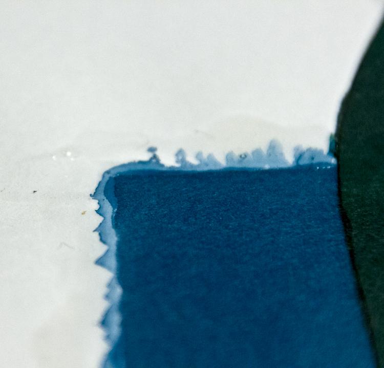 Auf Rubbelkrepp malen - Beispiel 5