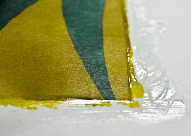 Auf Rubbelkrepp malen - Beispiel 6