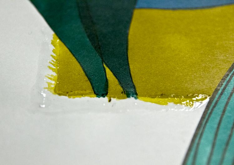 Auf Rubbelkrepp malen - Beispiel 7