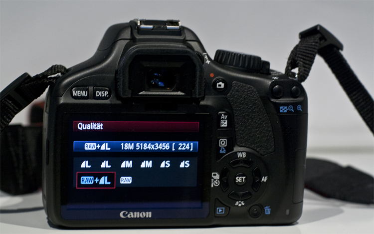 Canon EOS 550d Bildqualität einstellen