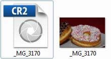 Eine Canon RAW-Datei