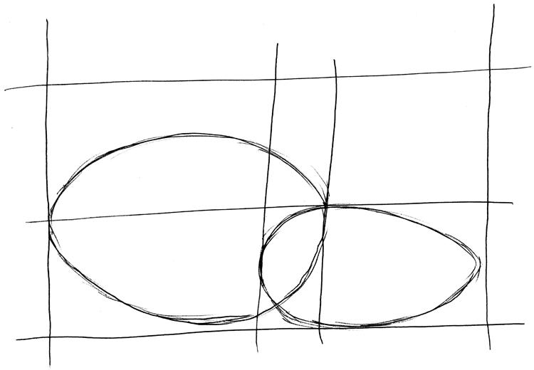 Zeichentechnik: Mit Hilfslinien zeichnen (Eier)