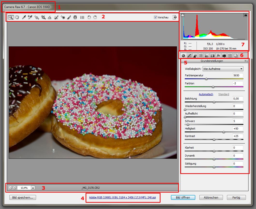 RAW in Photoshop bearbeiten - Erklärung