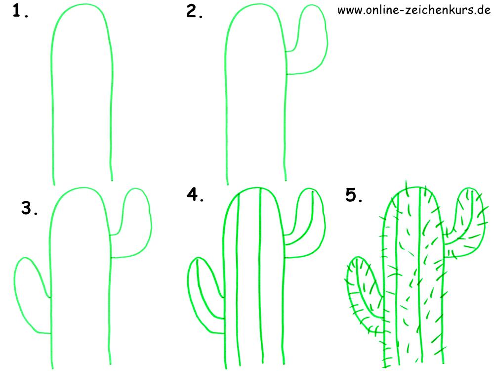 Mit Kindern zeichnen - Zeichenanleitung für Eltern: Wüstenbild