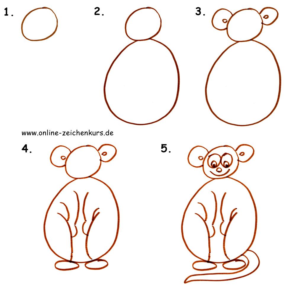 Anleitung: Äffchen zeichnen