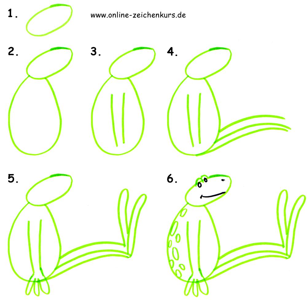 Mit Kindern zeichnen - Zeichenanleitung für Eltern: Sumpfbild