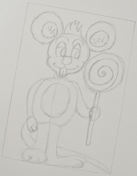 Comic-Maus zeichnen Schritt 5