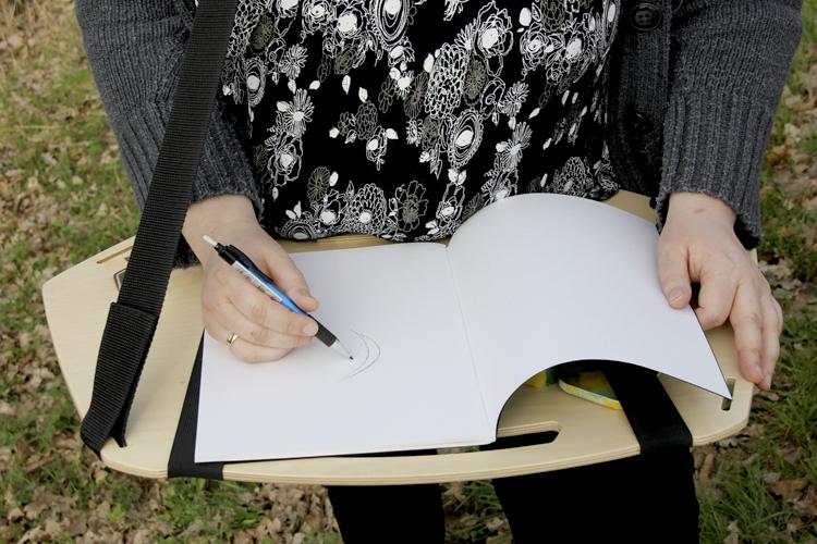 Zeichnen unterwegs: das Mantaboard Zeichenbrett