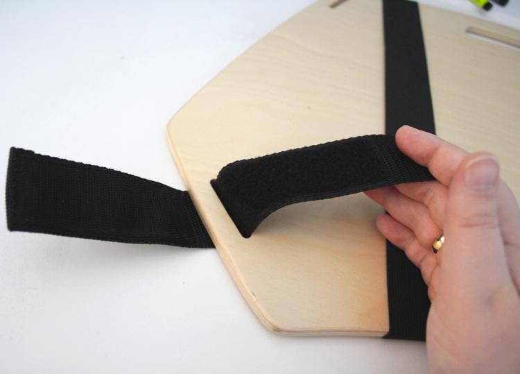Detailansicht des Mantaboard Zeichenbrett Umschnallgurtes