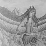 Zeichnung: Madeline O., 18 Jahre