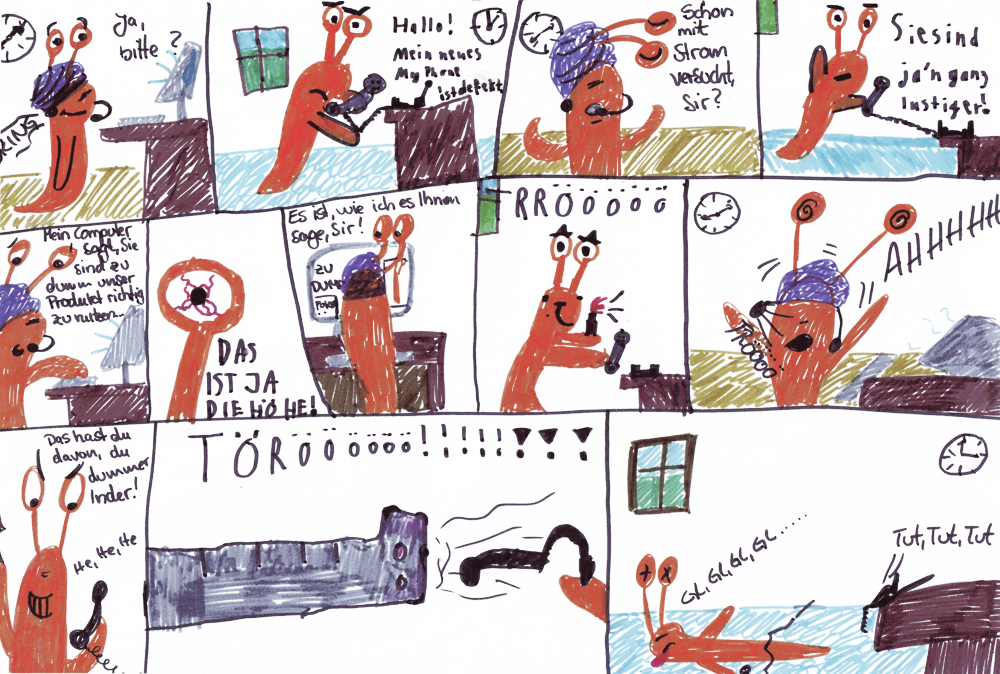 Comic: Schnecke im Callcenter