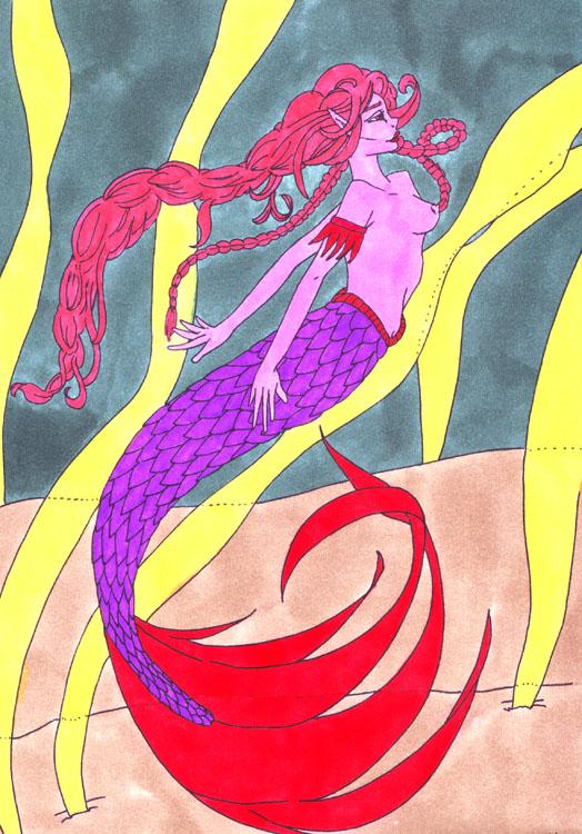 Meerjungfrau: Kolorierung Variante 2