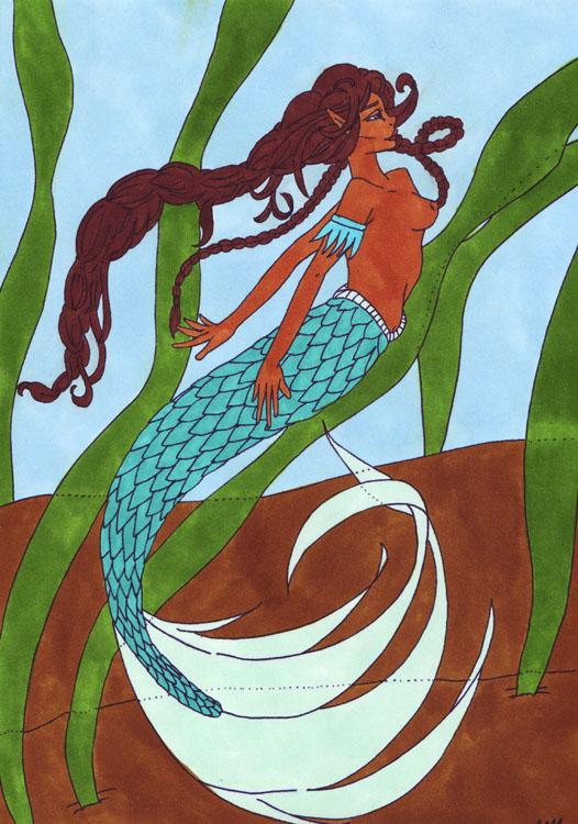 Meerjungfrau: Kolorierung Variante 3