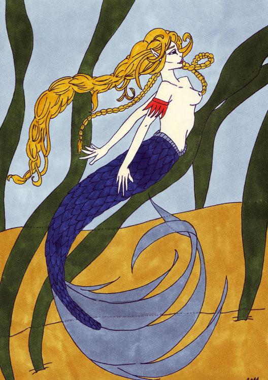 Meerjungfrau: Kolorierung Variante 4