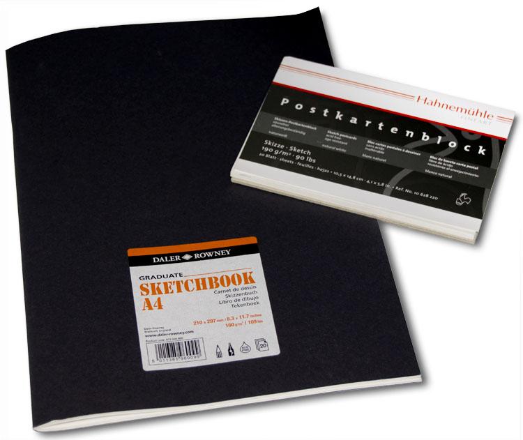 Sketchbook & Postkartenblock