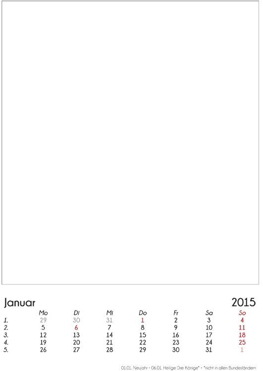 Jahreskalender selbst gestalten 2016