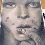 Zeichnung: Alexandra R., 19 Jahre