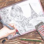 Zeichnung: Amina B., 15 Jahre