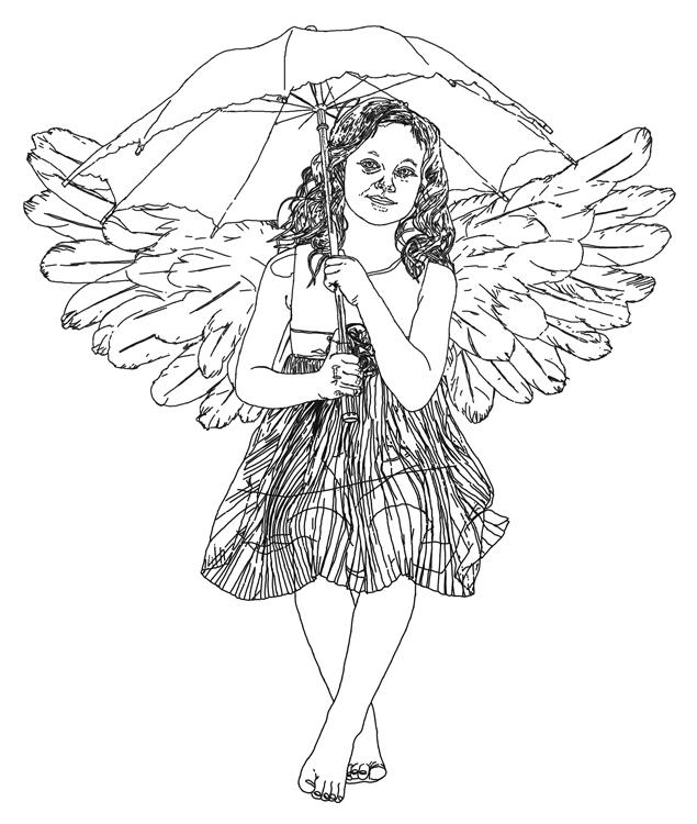 Gezeichnetes Engelchen