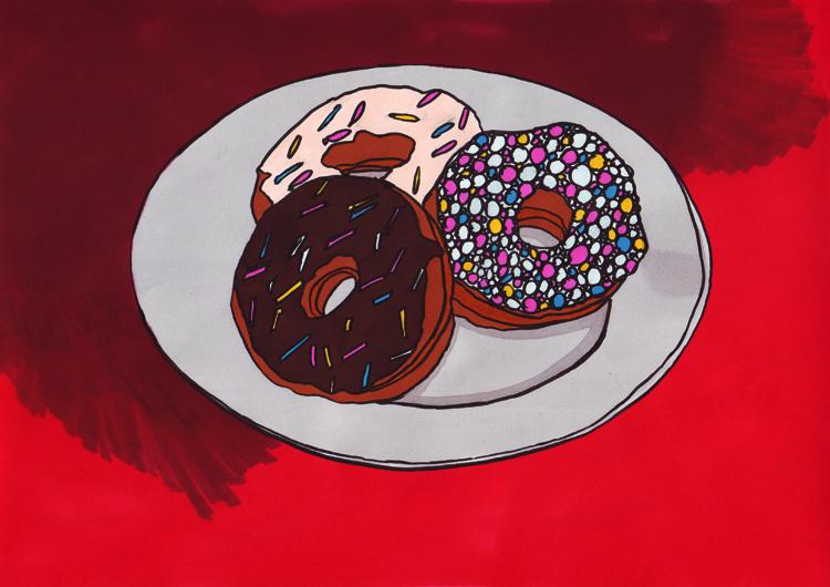 Donuts mit Markerkoloration