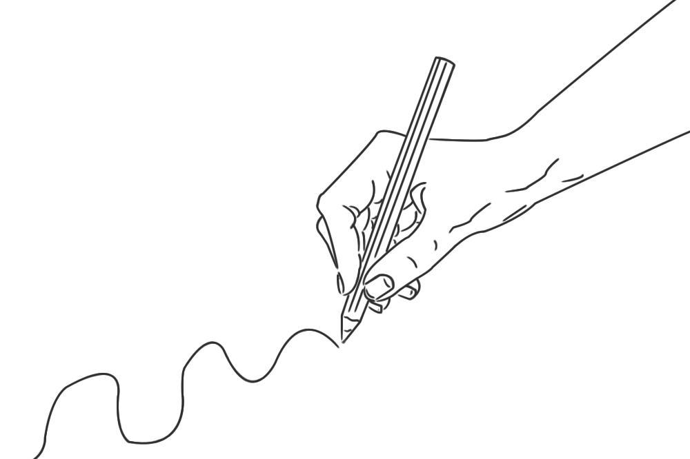 3 beispiele wie du h nde zeichnen kannst die einen stift halten. Black Bedroom Furniture Sets. Home Design Ideas