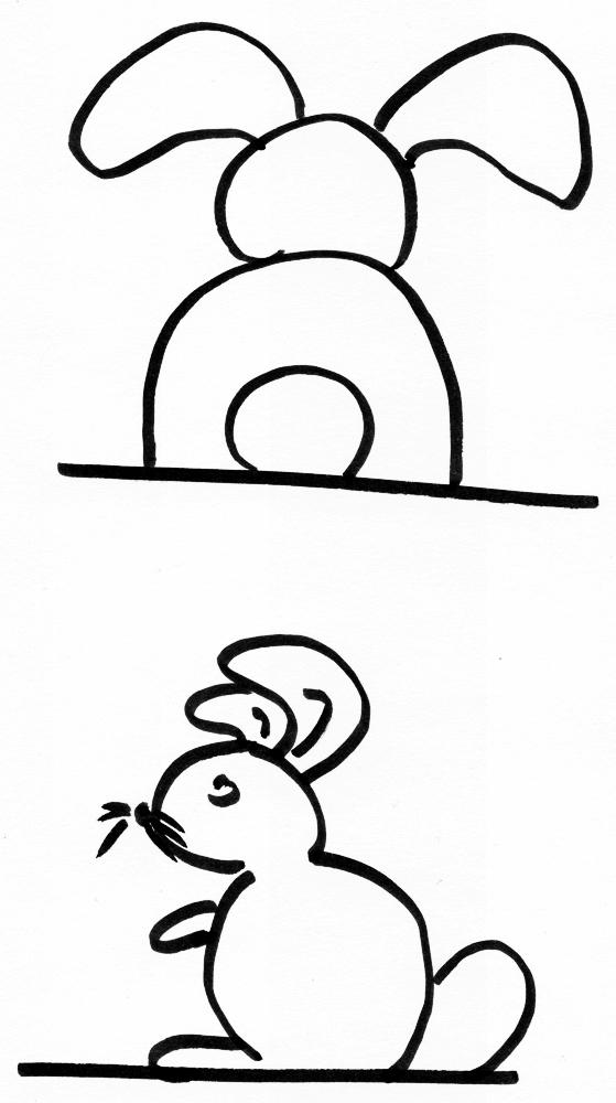 hase zeichnen einfach