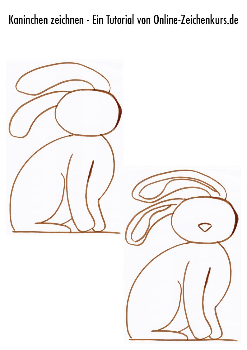 Tutorial: Sitzendes Kaninchen zeichnen 3