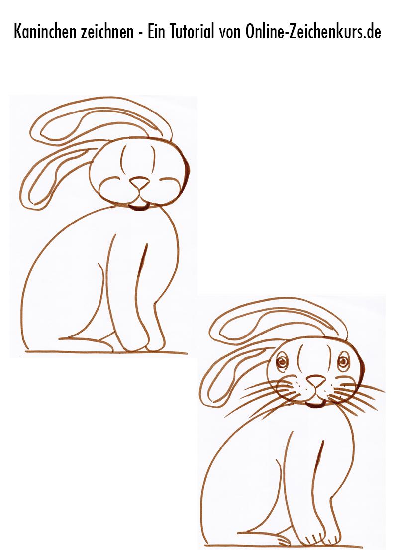 Tutorial: Sitzendes Kaninchen zeichnen 4