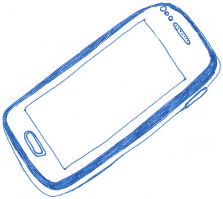 Smartphonezeichnung mit Frixion