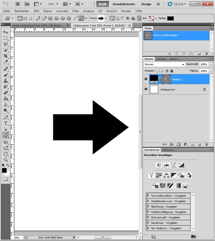 Metalleffekte in Photoshop auf Form anwenden 1