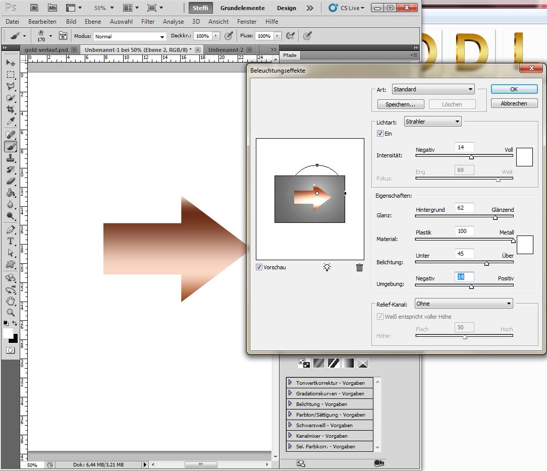 Metalleffekte in Photoshop auf Form anwenden 7