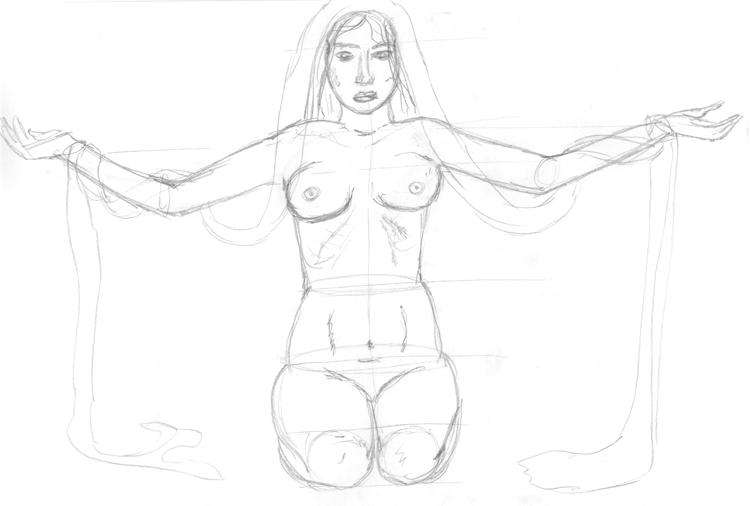 Posende Frau 2