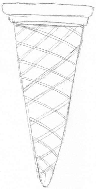 eiswaffel zeichnen eine schritt f r schritt anleitung. Black Bedroom Furniture Sets. Home Design Ideas