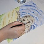 Seehund Zeichnung: Aquarellbuntstift aquarellieren 1