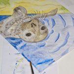 Seehund Zeichnung: Aquarellbuntstift aquarellieren 11