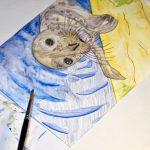 Seehund Zeichnung: Aquarellbuntstift aquarellieren 12