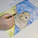 Seehund Zeichnung: Aquarellbuntstift aquarellieren 14