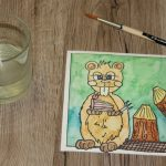 Postkarte: Comic Biber (Making of)