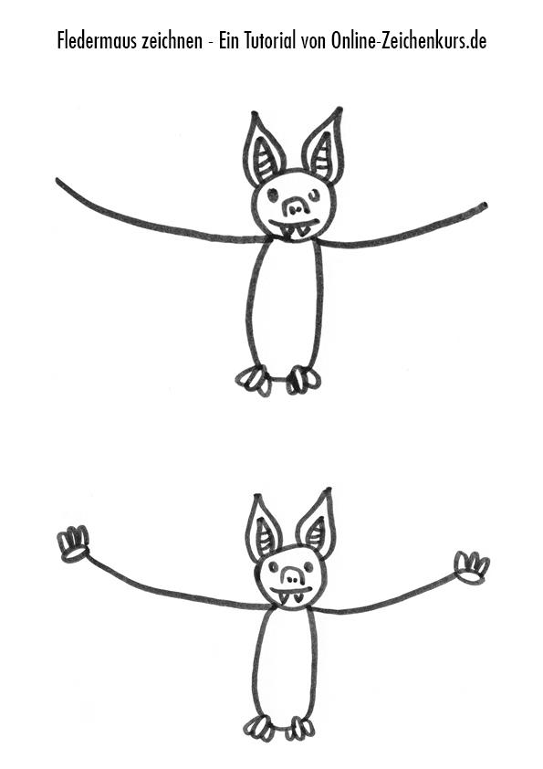 Fledermaus Zeichenanleitung 2